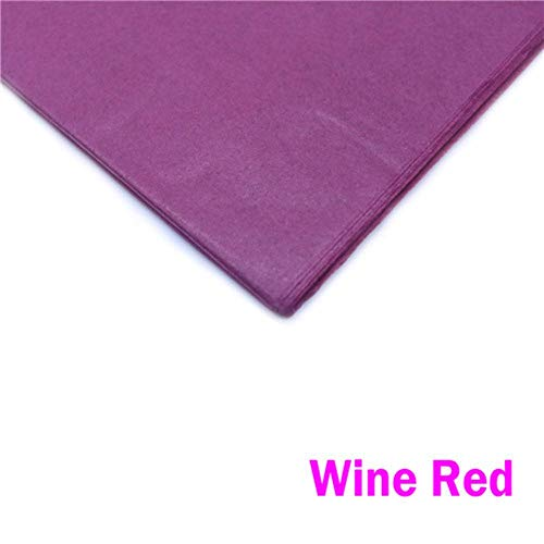 10 Fogli di Carta Fiori di Tessuto Scintilla Vestiti Shirt Scarpe Regalo Rotolo di Carta da imballaggio Crafts Libro di imballaggio Vino,Borgogna