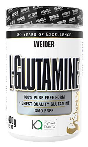 WEIDER L-Glutamin 100% Aminosäure Pulver, Bodybuilding und Fitness, 400 g
