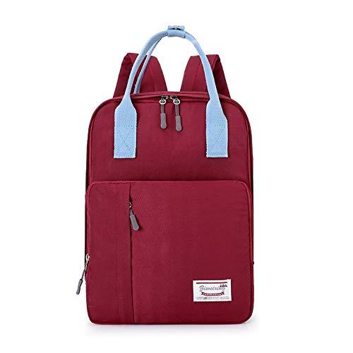 AMNVBD Mochila impermeable de nailon para pañales de gran capacidad, bolsa de bebé, con anillas, hebilla de viaje, bolsa de cuidado del bebé, nailon, Rojo, 25cm13cm34cm