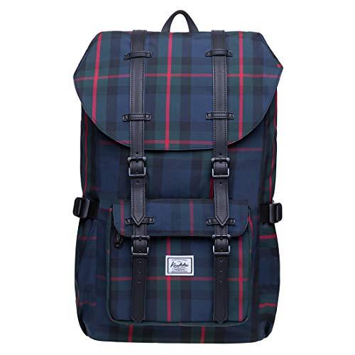 """KAUKKO Rucksack Damen Herren Studenten 17 Zoll Backpack für 15\"""" Notebook Lässiger Daypacks (Schwarz JNL-EP5-15-03)"""