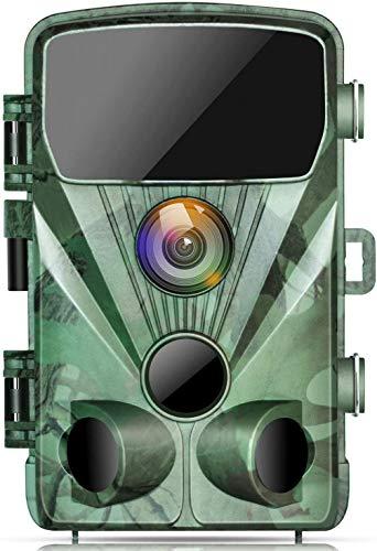 TOGUARD Wildkamera 20MP 1080P Jagdkamera mit 20M Infrarot Nachtsicht Bewegungsmelder IP56 wasserdichte Überwachungskamera 130°Weitwinkel Beutekameras 2.4