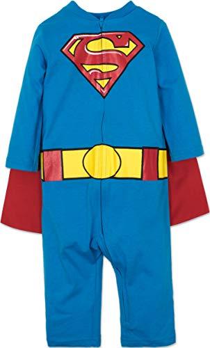 Warner Bros. DC Comics Superman Strampler für Babys, Strampelanzug für kleine Helden mit Umhang, 24 Monate