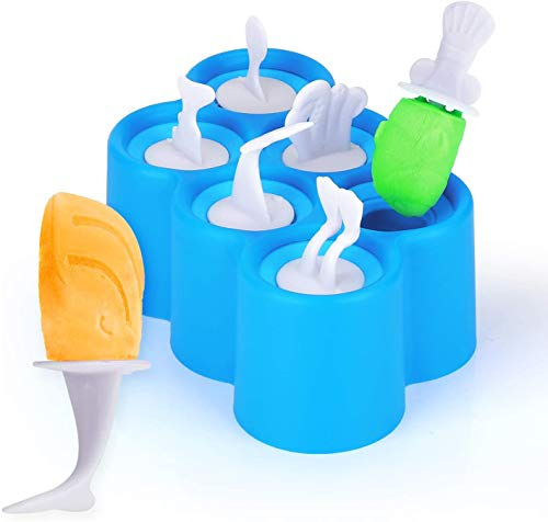 Gxhong Eisformen, Eisform für Kinder Eiszubereiter, BPA-freie Eisform, DIY Joghurt Eis am Stiel Formen Mini Ice Pop Formen, EIS am Stiel Bereiter Wiederverwendbar