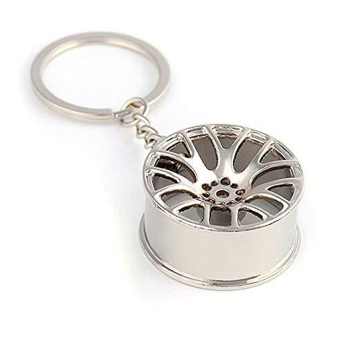 Farmer-W Mini-wieldoppen voor autobanden, creatief, mini-wielnaaf, autologo's, sleutelhangers, sleutelhangers, reparatieaccessoires voor auto's
