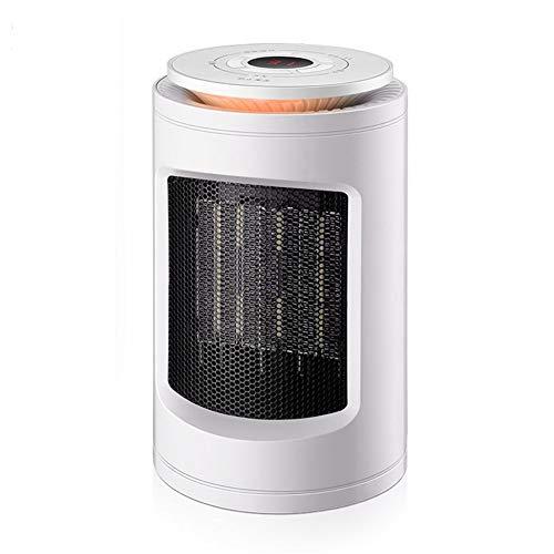WYW Mini Calefactor Eléctrico Cerámico Baño,Tiempo de 9 Horas, Agitando la Cabeza 60 ° a Izquierda y Derecha,1200W Mini Compacto, Calefacción Eléctrica Silenciosa Bajo Consumo,2