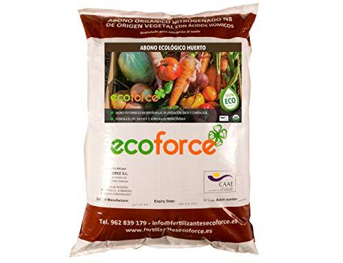 CULTIVERS Abono - Fertilizante Ecológico de 25 Kg Especial para el Huerto. Origen 100% Orgánico y Natural Microgránulado. Mejora la Productividad de los Cultivos