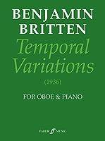 ブリテン : 世俗的変奏曲 テンポラル・バリエーション (オーボエ、ピアノ) フェーバー出版