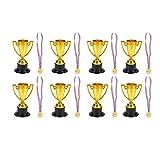 NUOBESTY 22Pcs Trofei E Medaglie per Bambini Trofei d'oro Coppe Concorso Concorso Medaglie...