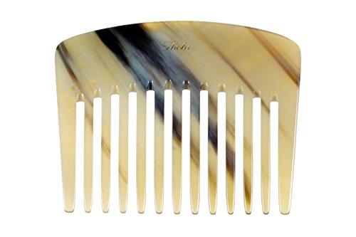 Thohr Hornkamm Lockenkamm 10 cm inkl. Lederetui (Kamm aus Horn, handgefertigt in Deutschland)
