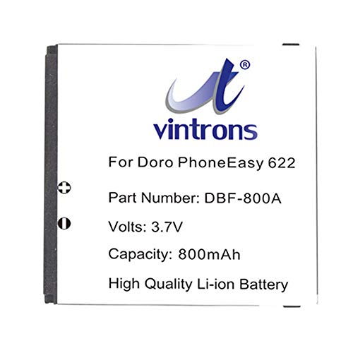 VINTRONS DBF-800A Battery For Doro PhoneEasy 606, PhoneEasy 622, Doro DBF-800B, DBF-800C, DBF-800D,