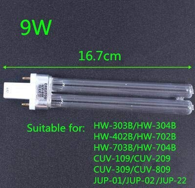 NO LOGO FDCW UV-Quarz-Aquarien Sterilisator ersetzen Lichtschlauch SunSun, Grech HW, JUP, CUV, CPF, Cup-Lampenfischbehälter Entkeimungslampe (Wattage : 9w G23 16.7cm)