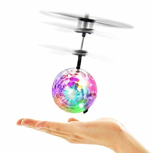 Flying Ball RC Toys for Children Goo Play for Kids Ball Helicopter Gifts for Kids Built-in-Shinning LED Disco Light Induction Ball Children Play Indoor and Outdoor Gifts for Kids Boy Girl