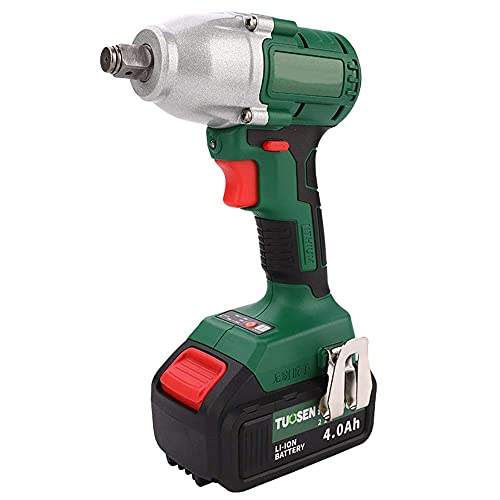 Diossad Craftsman Drill Brushless Electric Impact Wrench - Rechargeable Cordless Hand Drill with 2 x Li-Battery for Alternative Use, 21V / 300N.M