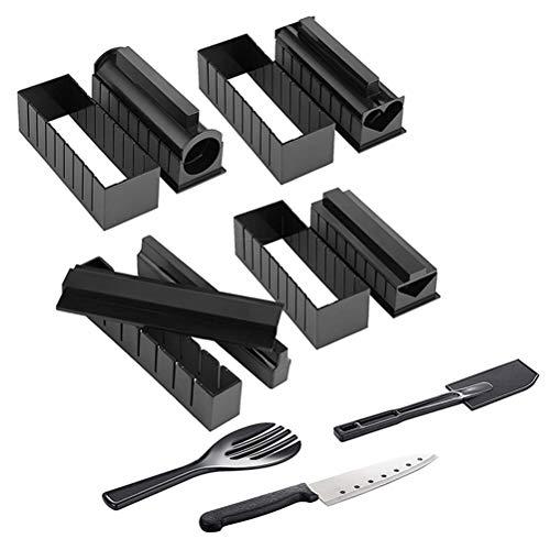 Desire Sky Kit de fabrication de sushis - 11 pièces - Kit de fabrication de sushis - 11 pièces - Outils de cuisine pour débutants - Outils de cuisine pour sushis japonais