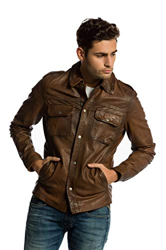 Urban Leather -Chaqueta Hombre Marrón (Ontorio Brown 003) XL