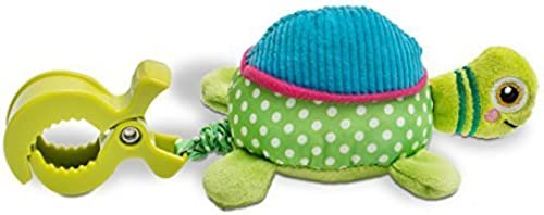 Oops Colourful and Multi-Texturot Soft and Vibrating Turtle Pull-Toy Accessory for Car Seats and Pushchair by Oops