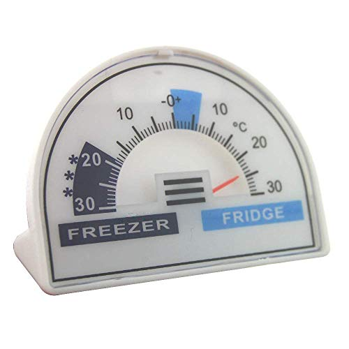 Termómetro para nevera o congelador con zona de temperatura recomendada