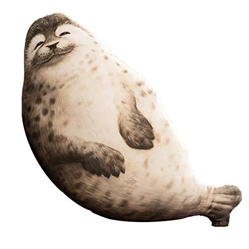 Aideal Foca - Peluche de peluche muy suave, juguete para animales de peluche, cojín océano, juguete de regalo (85 cm)