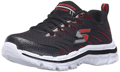 Skechers Skechers Mädchen Nitrate Sneaker - Schwarz (Black/Red) - 32 EU (13 UK)