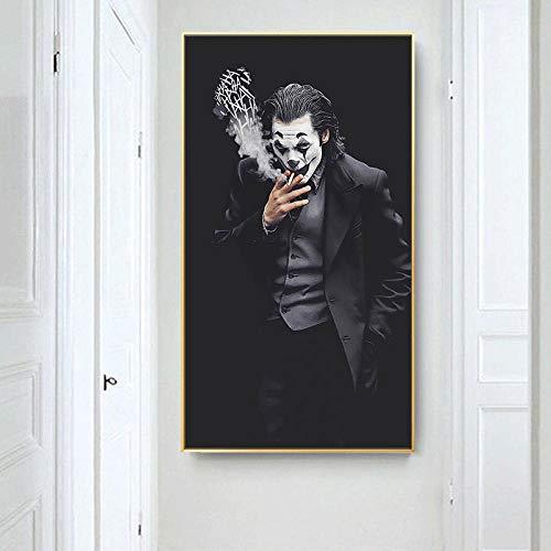 WTYBGDAN Film Joker Smoking Poster Porträt Leinwand Malerei Poster und Druck Wandkunst Bild für Wohnzimmer Home Decor | 60x100cm / Kein Rahmen