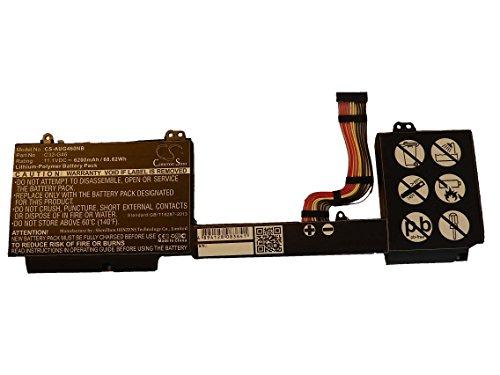 vhbw Batterie Li-Polymer 6200mAh (11.1V) pour Ordinateur Portable, Notebook ASUS G46, G46EI363VM, G46V, G46VW comme C32-G46.