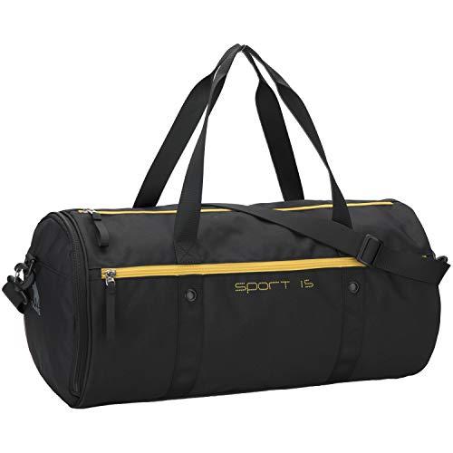 OIWAS Sporttasche Klein Schwarz Herren Damen Kinder Tasche mit schuhfach Reisetasche Handgepäck Trainingtasche Krankenhaustasche Kliniktasche Weekender 25L