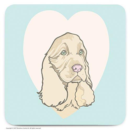 Le cadeau idéal pour les amateurs de 'épagneul' Dog. – mignon Cœur fantaisie Dessous-de-verre