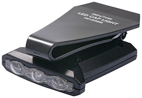 GENTOS(ジェントス) LED ヘッドライト 【明るさ20ルーメン/実用点灯25時間/2色(白&赤)】 帽子に挟んで使うキャップライト HC-232B ANSI規格準拠 CR2032ボタン電池2個使用