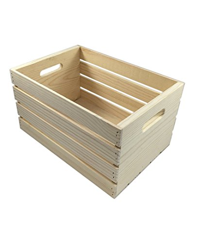 Candysweet Crates and Pallet - Large Wood Crate - 18in x 12.5in x 9.5in