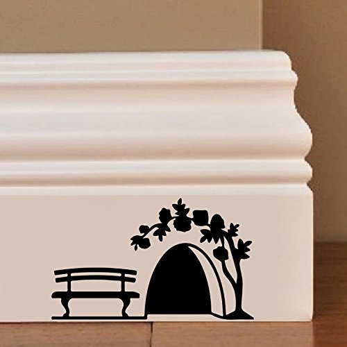Maus Hole Garden Wandkunst Aufkleber Decal Mice Home Skirting Board Komisch by Inspired Walls®