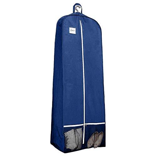 Qees 182,9 cm Damen Kleid und Kleid, Brautkleid, Hochzeitskleid, Kleidertasche 38,1 cm Zwickel, Reise-Kleidertasche für Abschlussball, Abendkleider mit 2 Netztaschen