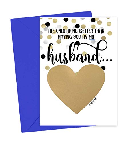 Product Image of the Pregnancy Scratch Off Card for Husband Baby Reveal