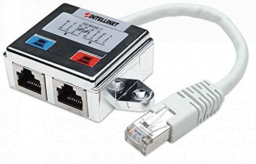 Intellinet 504195 RJ-45 RJ-45 Argento cavo di interfaccia e adattatore