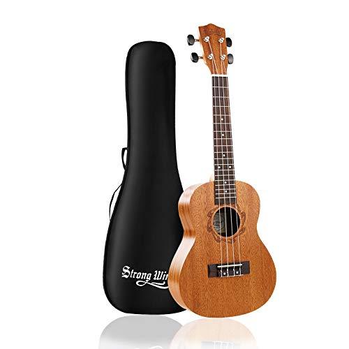 mahogany ukuleles Strong Wind Concert Ukulele, Mahogany 23 Inch Ukeleles for Beginners, Adult Uke Hawaiian Starter Ukalalee With Gig Bag