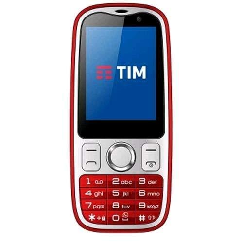 Tim 773590 Easy 4G Smartphone, Marchio Tim, 2 GB, Rosso[Italia]