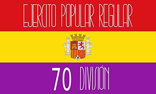 magFlags Bandera Large Reproducción de la Bandera de la 70 División del Ejército Popular de la II República Española | Bandera Paisaje | 1.35m² | 90x150cm
