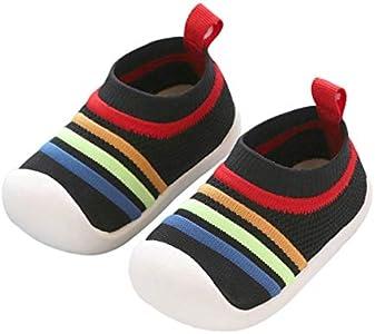 DEBAIJIA Zapatos para Niños 1-3T Bebés Caminata Zapatillas Niñas Suela Suave Malla Transpirable TPR Material 20/22 EU Negro (Tamaño Etiqueta 17)