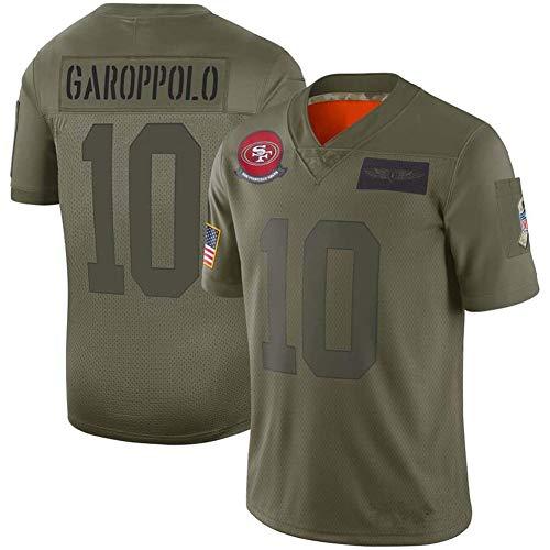 anking Jersey NFL T-Shirt 49Ers # 10# 80# 85 Camiseta De Fútbol Ropa De Manga Corta Top Deportivo Ropa Deportiva Camiseta De Fútbol NFL,10,S