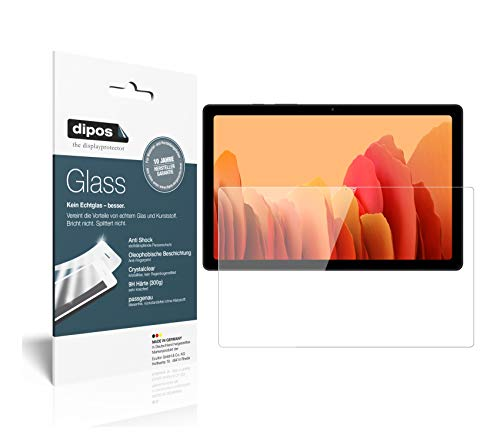 dipos I Protector de Pantalla Compatible con Samsung Galaxy Tab A7 10.4 Pulgada (2020) Vidrio Flexible Cristal Proteccion 9H