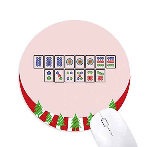 Mahjong Fliesen rund Gummi Maus Pad Weihnachtsdekoration