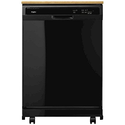 Whirlpool WDP370PAHB Portable Full Console Tall Tub Black Dishwasher