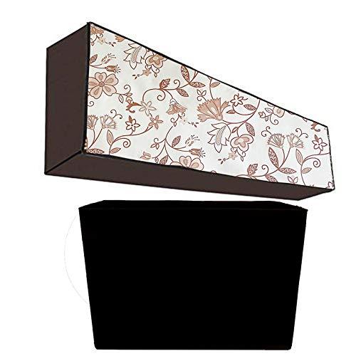 JM Homefurnishings Waterproof and dustproof Split AC Cover for Daikin 1.5 Ton 5 Star Inverter (Copper, JTKJ50TV) (Black Colour)