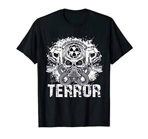Terror Terrorcore Speedcore Uptempo Hardcore - Totenköpfe T-Shirt