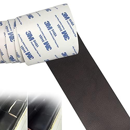 Leder Patch Kit Selbstklebende Lederflicken, Selbstklebender Leder Reparatur, Leder Flicken Reparaturset, Lederreparatur-Klebeband für Couch Sofa Risse, Verbrennungen (Schwarz, 7.6 * 152cm)