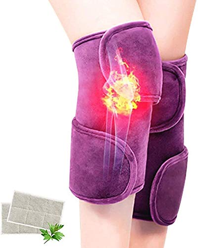Massage Heat Knee Pad Knee Joint Support Physiotherapy Massager Can Relieve Joint Pain Best Gifts for Mom Dad Men Women,Purple