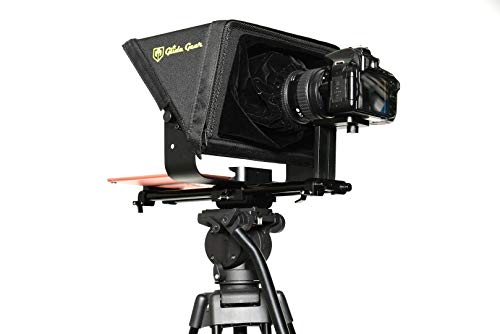 Glide Gear TMP 500 Universal Video Camera Tripod Teleprompter 15mm Rails w/ Carry Case