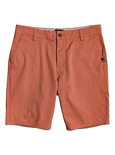 Quiksilver Herren Everyday - Chino-Shorts für Männer Walk, Redwood, 34