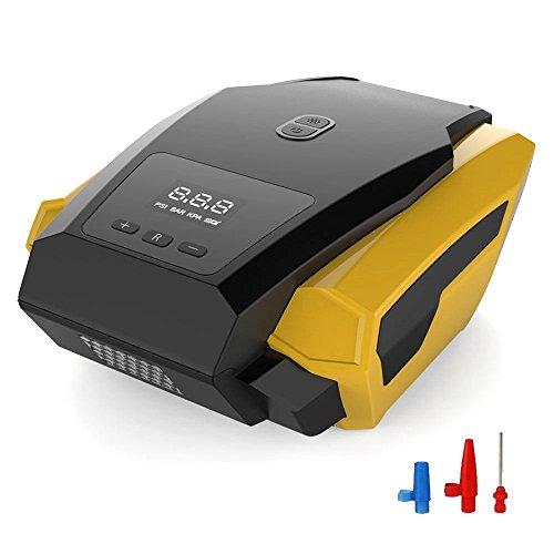 Pompa auto Gonfiatore, compressore d' aria portatile digitale con illuminazione, 12V 150PSI