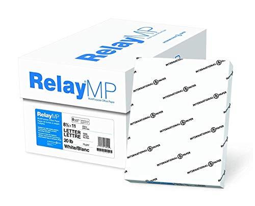 Relay MP, Multipurpose Copy Paper, 20lb, 8.5 x 11, 92 Bright - 10 Ream Carton / 5,000 Sheets (013020C)