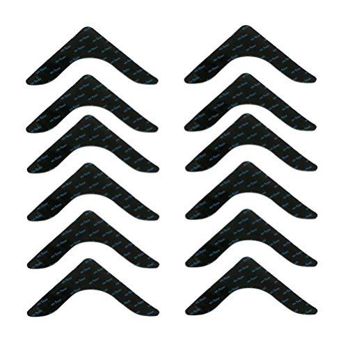 Exceart 12 Stücke Teppichgreifer Antirutschmatte für Teppich Aufkleber Anti Rutsch Teppichunterlage Teppichstopper Waschbar Wiederverwendbar Rutschmatte Rutschschutz
